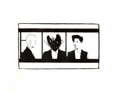Gravat en planxa de zinc sobre paper. 22 x 28 cm. Barcelona. 2001.