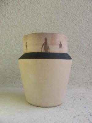 Fang, engalba i transfer cuits a 980ºC. 36 x 24 cm de diàmetre. Cholul, Yucatan, Mèxic. 2005.