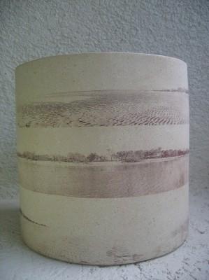 Fang i transfer cuits a 980ºC. 54 x 37 cm de diàmetre. Cholul, Yucatan, Mèxic. 2005.