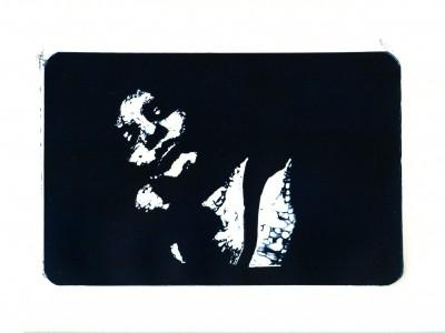 Gravat en linoleum sobre paper. 21 x 27 cm. Atenes. 1998.