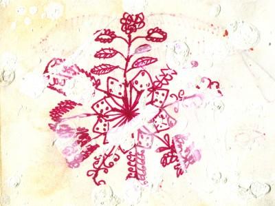 Rangooli dibuixat per Himmat.